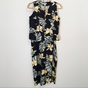 Tommy Bahama 2 Piece Floral Skirt & Sleeveless Top